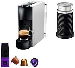 ماكينة تحضير القهوة الصغيرة اسينزا من نيسبريسو، ماكينة تحضير الرغوة ايروشينو 3، اللون فضي، S300SI