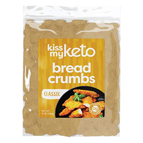 Kiss My Keto Bread Crumbs Zero Carb (0g Net) — Low Carb Keto Breadcrumbs | 6g Protein per Serving, Sugar Free | Low Calorie, Non-GMO & Soy Free — Golden Wheat, Plain (Pack of 1)