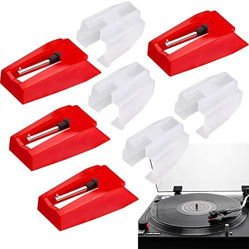 4Pcs Plattenspieler Nadel, Plattenspieler Ersatznadel Diamant Stylus Ersatz für Plattenspieler Phonograph Vinyl Plattenspieler