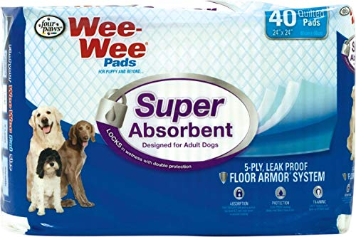 FOUR PAWS - CONTAINER Wee Wee Super Absorbent Pads 40 PK