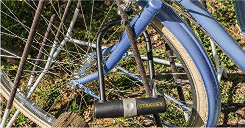 Stanley Fahrradschloss Bügelschloss (14mm x 247 mm, 3 Schlüssel) S755-201 - 4