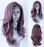Best Full Lace Wig Glues - EALGA Lilac Purple Hair Wigs for Women Synthetic Review