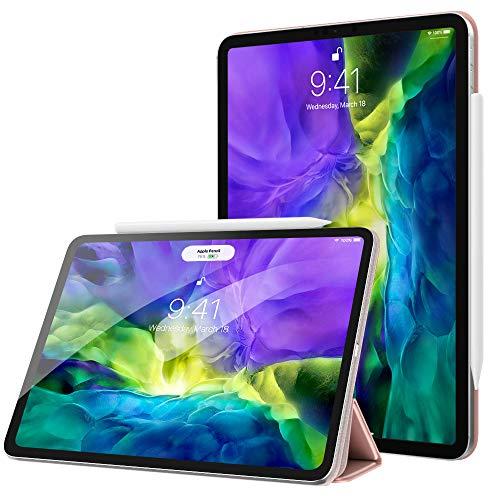 MoKo Hülle Kompatibel mit iPad Pro 11 2020 2. Generation / 2018, Schlanke Schutzhülle mit Magnetisch Befestigung und Ladung, Auto Schlaf/Aufwach Funktion für iPad Pro 11 2020/2018 - Rose Gold