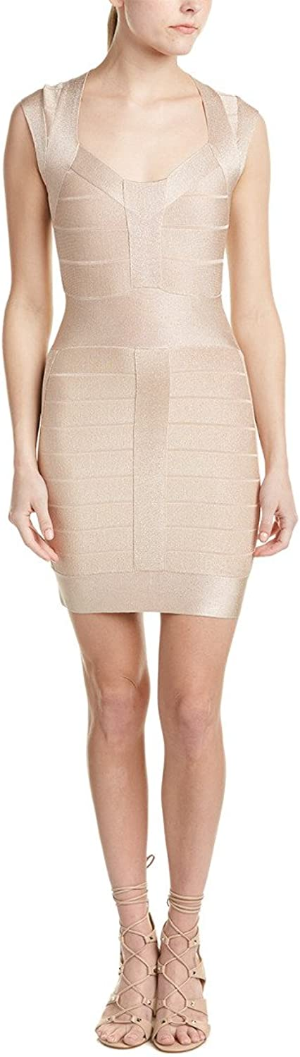 French Connection Womens Metallic Knit Cocktail Dress