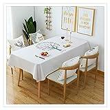 YOUCAI Tischdecke Tischdecke Stoff Karierte Tischdecken im mediterranen Stil Frische und kunstvolle Tischdecken aus Baumwolle und Quasten Rechteckige Couchtisch Tischdecken,72,140 * 230CM