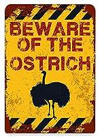 アメリカ雑貨 アメリカン雑貨 英語版 動物注意 ブリキ看板 警告コーギー 金属板 注意サイン情報 サイン金属 安全サイン 警告サイン 表示パネル (OSTRICH)