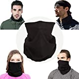 UNHO Braga Cuello para Hombre y Mujer Pasamontañas Bicicleta Multifuncional Máscara para Ciclismo Moto Esquí Invierno Color Negro
