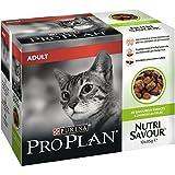PRO PLAN Nutrisavour - A l'Agneau en gelée - 10 x 85g - Sachets repas pour chat adulte
