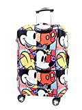 Washable Travel Luggage Cover Myosotis510 Funny Cartoon Suitcase Protector Fits 18-32 Inch Luggage