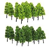EAGLESTIME 40x Kunststoff Modell Bäume Layout Eisenbahn Road Landschaft 60mm -