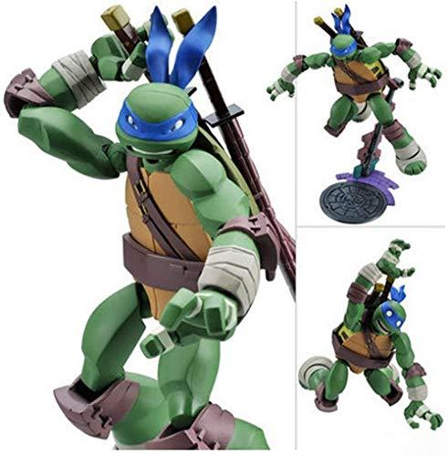 LINRUS Ninja Turtles Toys PVC Action Figures Craft Models Leonardo Figurine -TMNT Set (Teenage Mutant Ninja Turtle Figures 1990) for Kids Birthday Collection