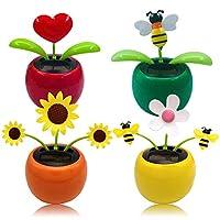 - Angetrieben von Sonnenenergie kann diese süße Flip-Flap-Blume automatisch schwingen und die Blätter würden sich wie ein fliegender Schmetterling auf und ab bewegen. - Wenn Sie es in ein Auto, Fenster, einen Schreibtisch oder ein Bett legen, können ...