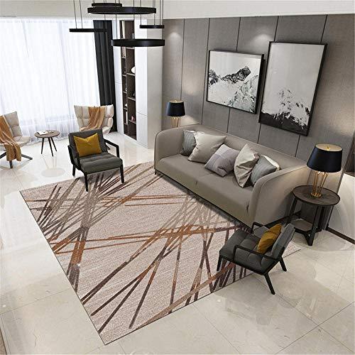 Moderna Diseño Geométrico gris Alfombra Salon de Salón grandes Decoracion Habitacion Alfombras Silla cojín Pasillo Alfombra doméstica suave y duradera,utilizada en pasillos,comedores. 140×200CM