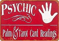 手のひらとタロットカードの壁の金属のポスターレトロなプラークの警告ブリキのサインヴィンテージ鉄の絵画の装飾オフィスの寝室のリビングルームクラブのための面白いハンギングクラフト