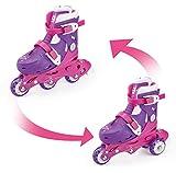 FUNBEE - OFUN084 - Patin à roulettes évolutifs 2 en 1 - Mixte Enfant - Multicolore (Rose/violet) - 27-30 cm