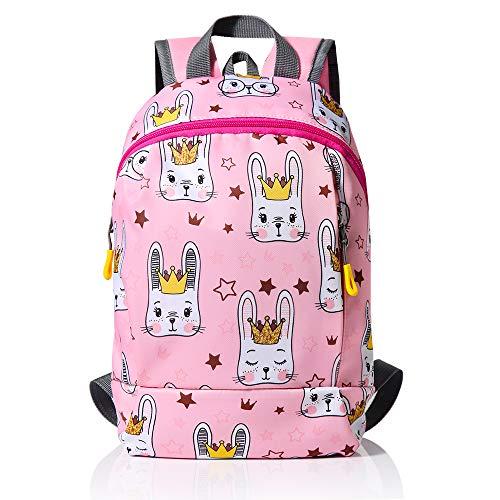 Evaduol Kinderrucksack Mädchen, Kindergartenrucksack Mädchen mit Brustgurt, lässige Tasche für Kinder 1 bis 5 Jahre (Pink)