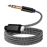 WLT 6.35mm 1/4 inch TRS Audio Stereo Cable for i-Phone, 6.35mm Male 1/4 inch Aux Audio Jack Adapter Cord for i-Phone 11/X/XS/XR/8/7/i-Pad/i-Pod, Amplifier, Speaker, Headphone, Mixing Console 3.3FT