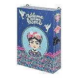 CAPRILO. Caja Pared Guardallaves Decorativa de Madera Frida Kahlo. Organización y Almacenamiento. Cajas Multiusos. Muebles Auxiliares. Regalos Originales. 20 x 7 x 30 cm.