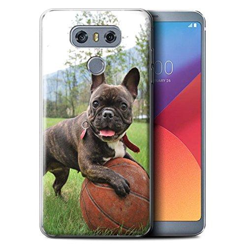 Phone Case for LG G6/H870/LS993/VS998 Popular Dog/Canine Breeds French Bulldog Design Transparent Clear Ultra Soft Flexi Silicone Gel/TPU Bumper Cover