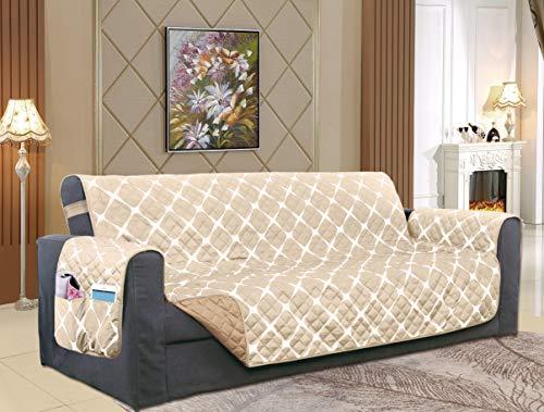 Elegant Comfort – Funda Protectora para Muebles, Moderno, Crema/Gris Topo (Cream/Taupe), Oversized Sofa,…