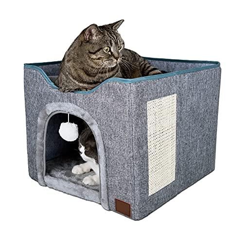 YUDOXN Cuccia Gatto,Casa pieghevole per gatti con terrazza, cuccia per...
