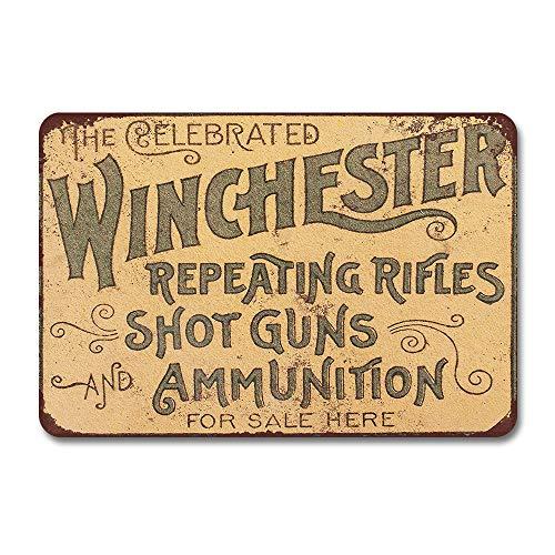 None Brand Reproduction de fusils répétitifs Winchester 1897 - Plaque en métal - Style vintage - Plaque de rue rétro - Pour jardin, décoration murale - Pour cuisine