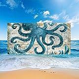 Stillshine. Toallas Playa Grandes Toallas Baño Secado Rápido Absorbentes Microfibra XL XXL, Toallas Tema Animales Marinos 3D Adultos Jóvenes Niños Mantas Hombres (Pulpo,150x200cm)
