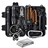 CQQKS Survival Gear Kit for Men Brother Boyfriend Dad Husband Teen Boys - Birthday Gifts Ideas for Him Who Love Camping Hiking Fishing Hunting