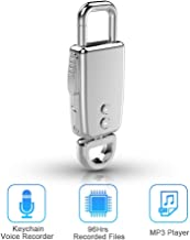 Voice Recorder Keychain,Voice Activated Noise Reduction 8 GB Digital Audio Voice Recorder dictaphone,Metal casing Micro Voice Recorder for lectures.Silver