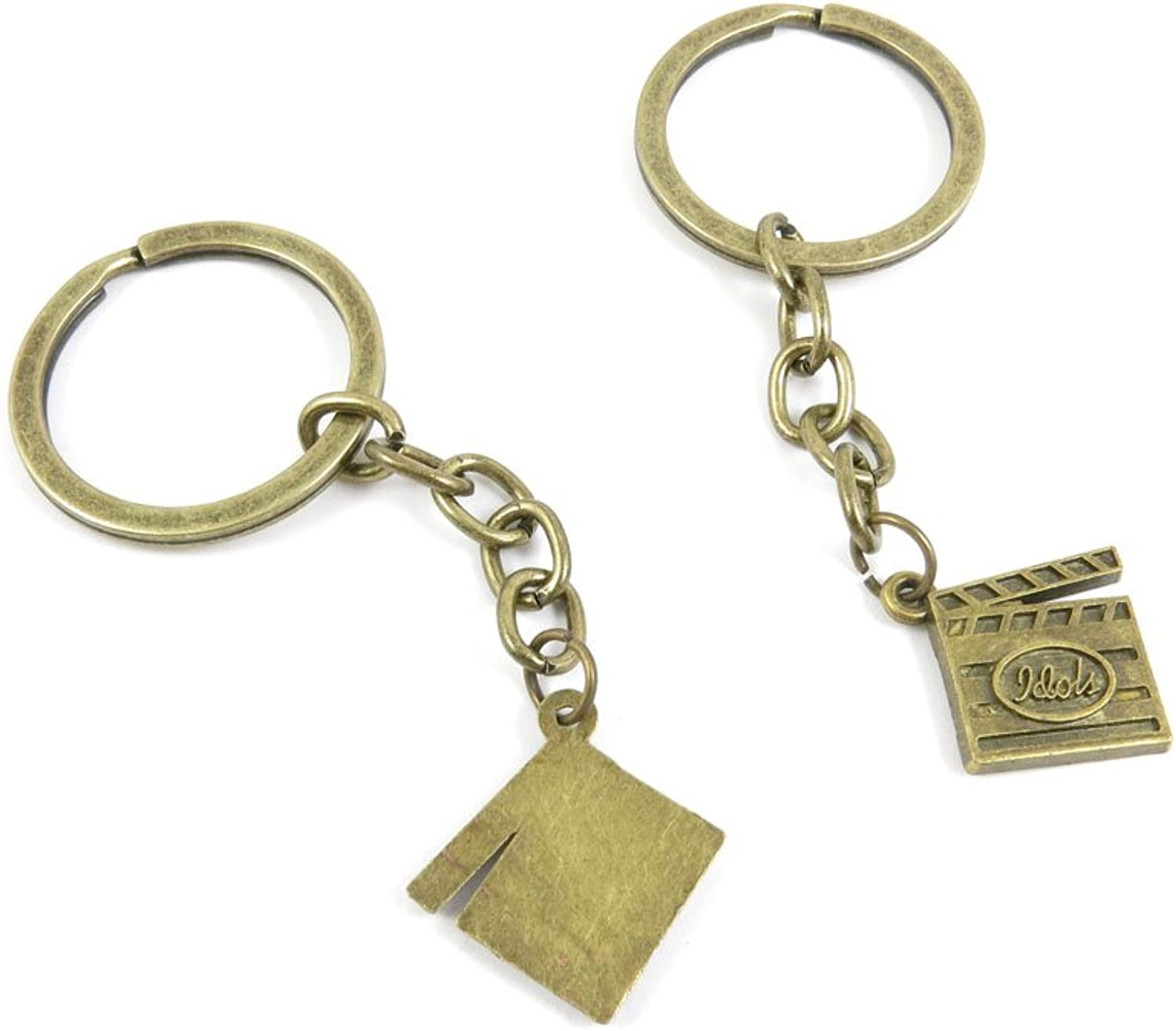 210 Pieces Fashion Jewelry Keyring Keychain Door Car Key Tag Ring Chain Supplier Supply Wholesale Bulk Lots H7AW6 Clap Slate Board