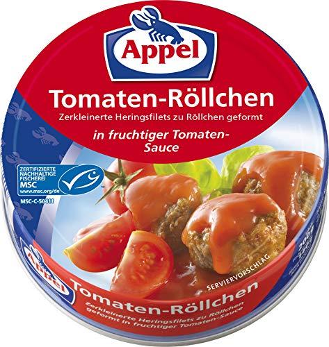 Appel Tomatenröllchen, 12er Pack Konserven, Fisch in Tomatensauce