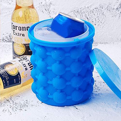 Ice Cube Maker, EiswüRfelform Silikon Zertifiziert EiswüRfelbehäLter Mit Deckel Platzsparende EiswüRfelbereiter EiswüRfel FüR Whiskey Cocktail Und Jedes GeträNk BBQ