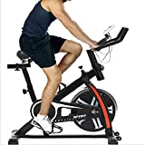Indoor Exercise Bike Spinning Cycling Bike Stationary W/LCD Display Heart Rate Adjustable Foot…