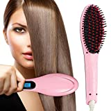 SUNRays Electric 2 in 1 LCD Screen Fast Hair Straightener Brush with Temperature Control Display...
