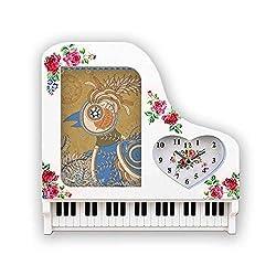 DIYthinker Flower Golden Pheasant Ukiyo-e Leaves Photo Frame Alarm Clock Piano Desktop