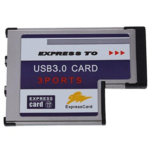 SODIAL(R) 3 Port USB 3,0 ExpressCard Karte 54mm PCMCIA-Express-Card fuer Notebook NEU