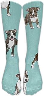 Tonesum, Calcetines De Compresión Para Cachorros Little Boston Terrier Para Mujeres Y Hombres 50CM