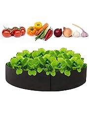 Goolsky 50 جالون زرع حقيبة سميكة مزارع حقيبة جولة الشكل الحاوية النسيج حديقة النباتات الأواني للخضروات الزهور الأعشاب زراعة الفاكهة