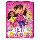 Dora and Friends, 'Girl Magic' Micro Raschel Throw Blanket, 46' x 60'