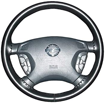 Wheelskins Genuine Leather Black Steering Wheel Cover Compatible with Vehicles -Size C