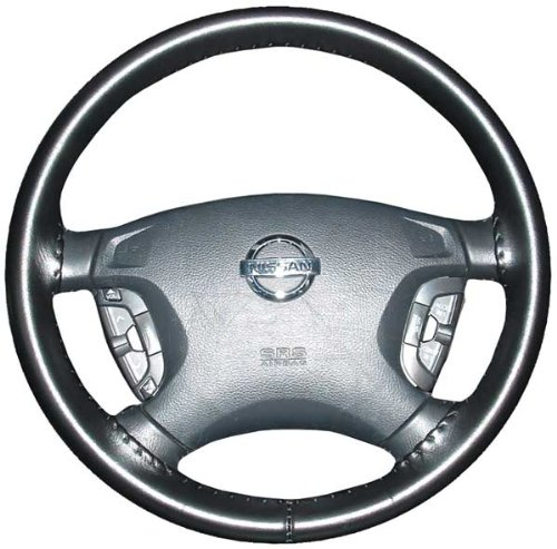 Wheelskins Genuine Leather Black Steering Wheel Cover Compatible with Chevy -Size AXX