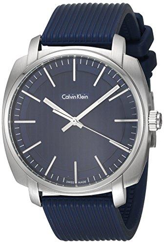 Calvin Klein Reloj Analogico para Hombre de Cuarzo con Correa en Caucho K5M311ZN