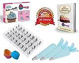 Kit Tasca da pasticcere in silicone 61 parti : 48 beccucci acciaio + storage boccole...
