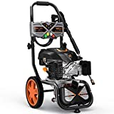 TACKLIFE 3200PSI Gas Pressure Washer, 2.4GPM 6.5HP Power Washer with 5 Quick-Connect nozzles,4-Stroke OHV Engine,Includes 25ft Hose& Detergent Tank