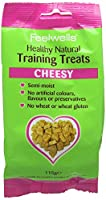Semi-moist training treat Cheesy Rice free - made with oats No artificial colours, flavours or preservatives Oven baked for more flavour and natural texture