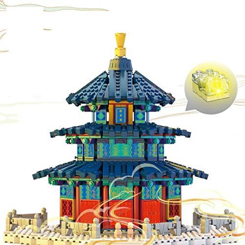 HYZM Architektur Peking Tempel des Himmels Bausteine, 1736Pcs 1:100 Chinesisch Architekturmodellbausatz, Architecture Modell Kompatibel mit Lego
