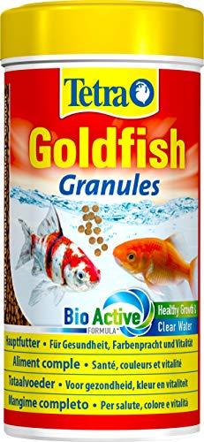 Tetra Goldfish - Aliments Premium Complet pour tous les Poissons Rouges - Favorise la Croissance la santé et la Longévité - Renforce la Couleur- en granulés - 250 ml