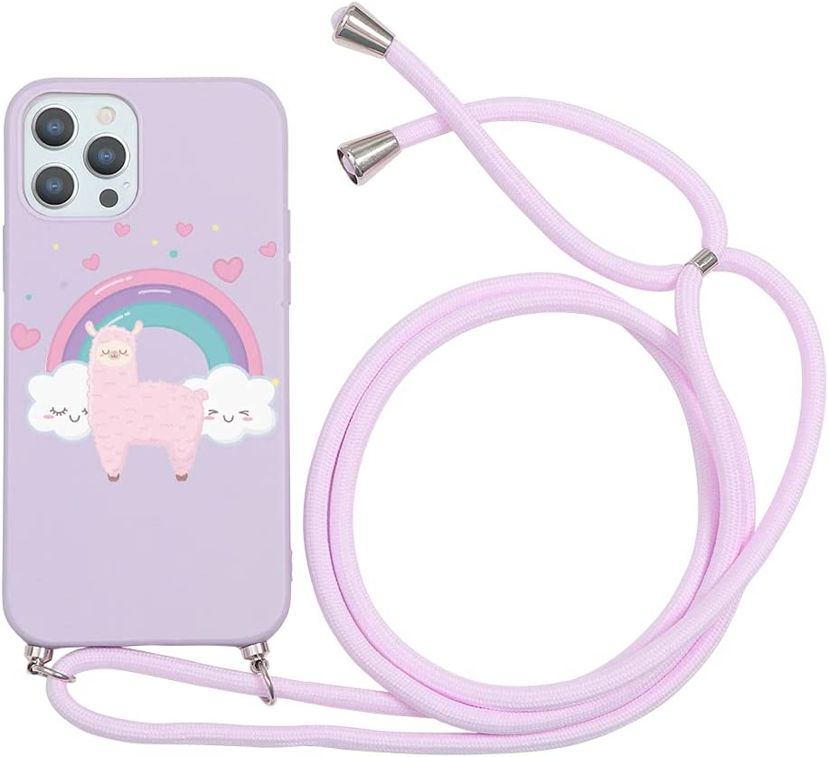Yoedge Crossbody Case for Huawei Nova 3, Neck Cord Phone Case with Adjustable Lanyard Strap, Soft TPU Silicone with Cute Pattern Cover Compatible with Huawei Nova 3 [6.3