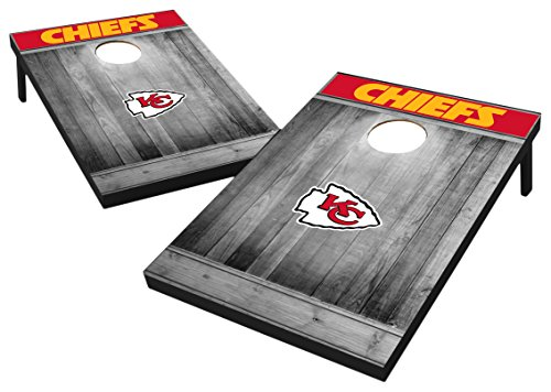 Wood cornhole set