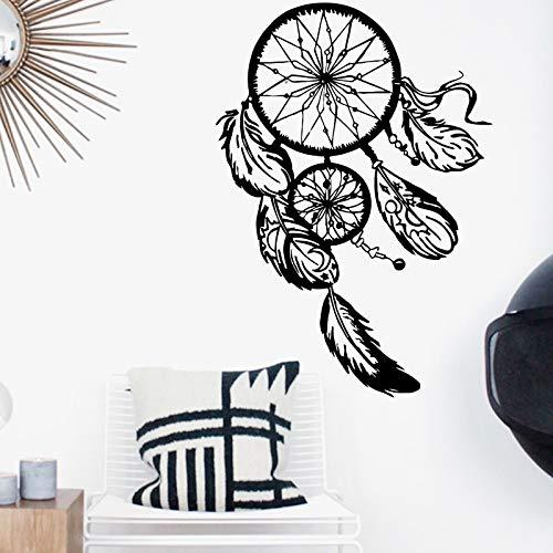 Kunst Design Traumfänger Wandaufkleber Wohnkultur Federn Nacht Symbol Aufkleber Schlafzimmer Wohnzimmer Traumfang A17 58x82cm